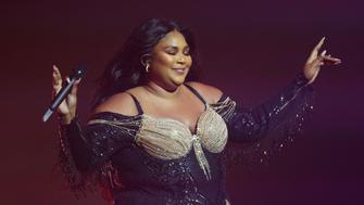 SYDNEY, AUSTRALIA - JANUARY 06: Lizzo performs at Sydney Opera House on January 06, 2020 in Sydney, Australia. (Photo by Don Arnold/Getty Images)