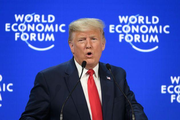 アメリカのトランプ大統領 世界経済フォーラム年次総会にて 2020年1月21日
