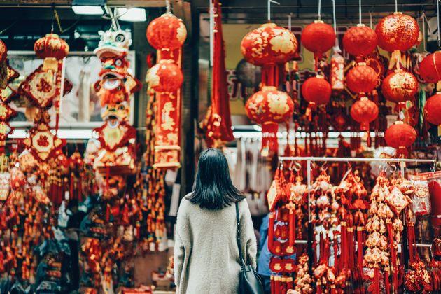 中国の「春節」を祝う装飾品