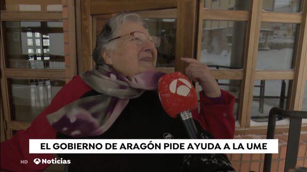 Un momento del informativo de mediodía de Antena 3 del 21 de enero de