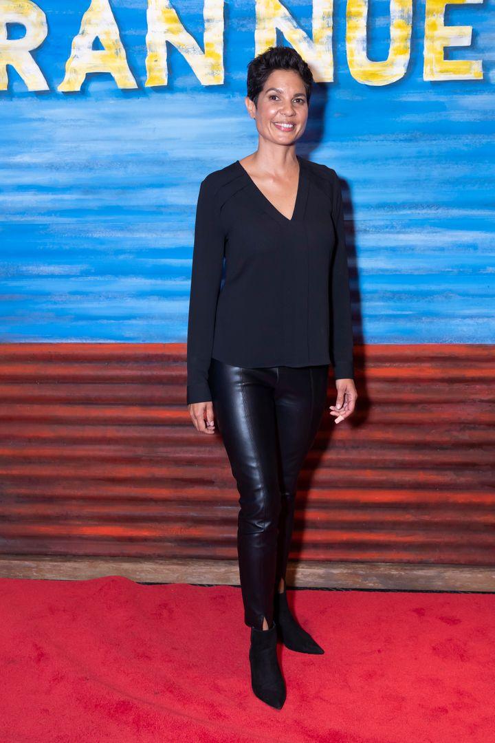 Studio 10 host Narelda Jacobs attends opening night of Bran Nue Dae on January 17, 2020 in Sydney, Australia.