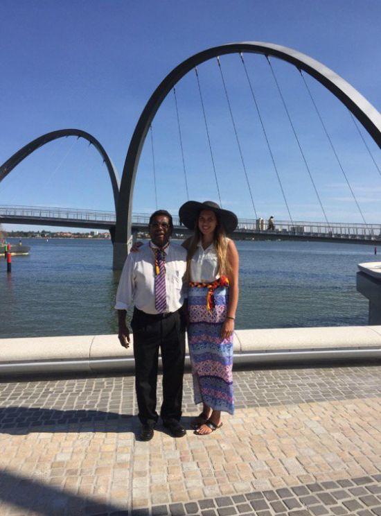Narelda's father Cedric Jacobs (L) and Narelda's daughter Jade Dolman (R) in