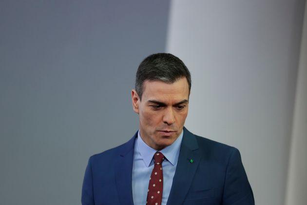 Pedro Sánchez, el pasado 12 de enero, tras su comparecencia en La