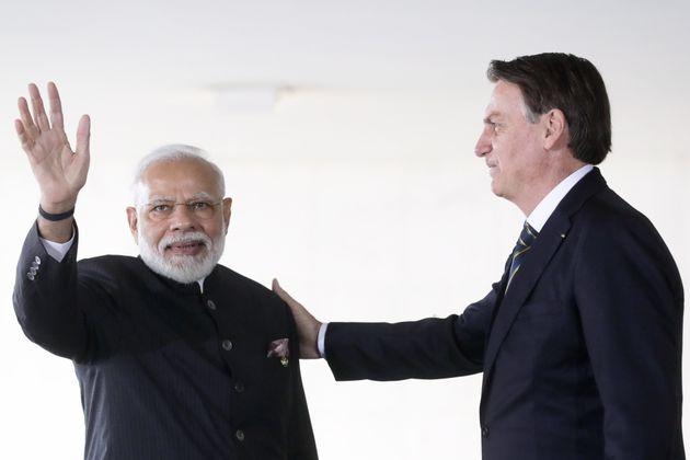 Prime Minister Narendra Modi and Brazil President Jair Bolsonaro in a file