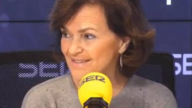 La vicepresidenta primera Carmen
