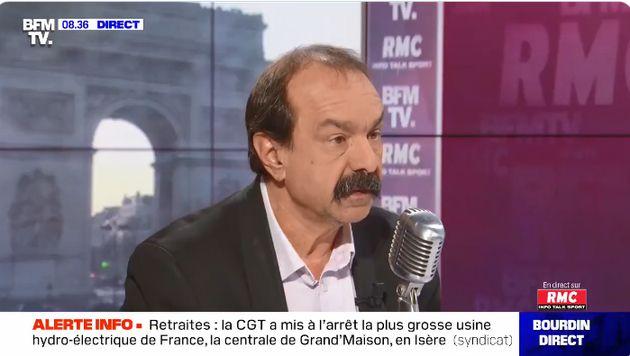 Philippe Martinez, invité de Jean-Jacques Bourdin sur BFMTV, le 22 janvier