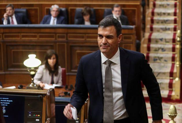 Pedro Sánchez, retratado en el Congreso en