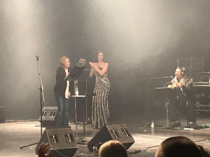 Pepa Flores durante el concierto homenaje de su hija, Celia en 2017.
