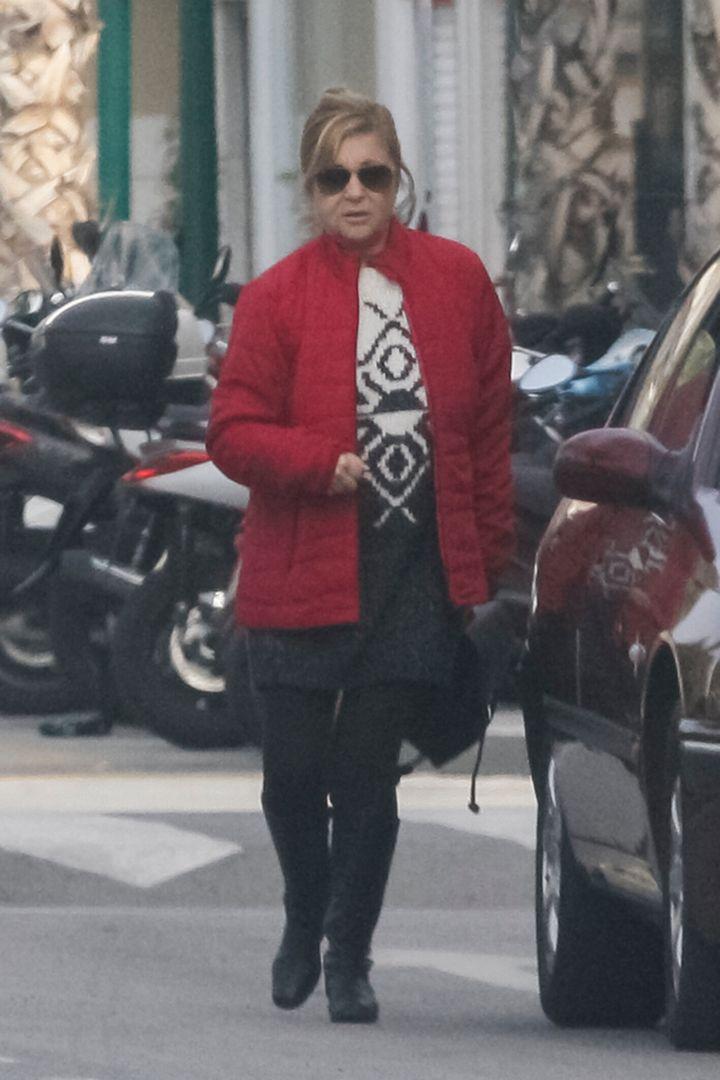 Pepa Flores, en las calles de Málaga en 2018.