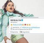 Rosalía tiene un millón de seguidores en Twitter, pero solo sigue a una persona: te desvelamos quién