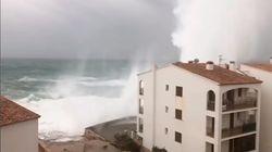 Baleares bate récord con olas de 14 metros de altura por la borrasca