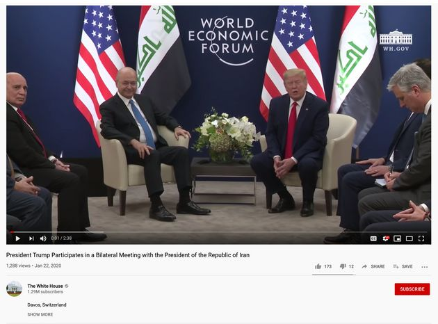 The White House Mixed Up Iran And Iraq In A YouTube Video And Took An Hour To Notice