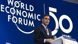 Sánchez promete en Davos