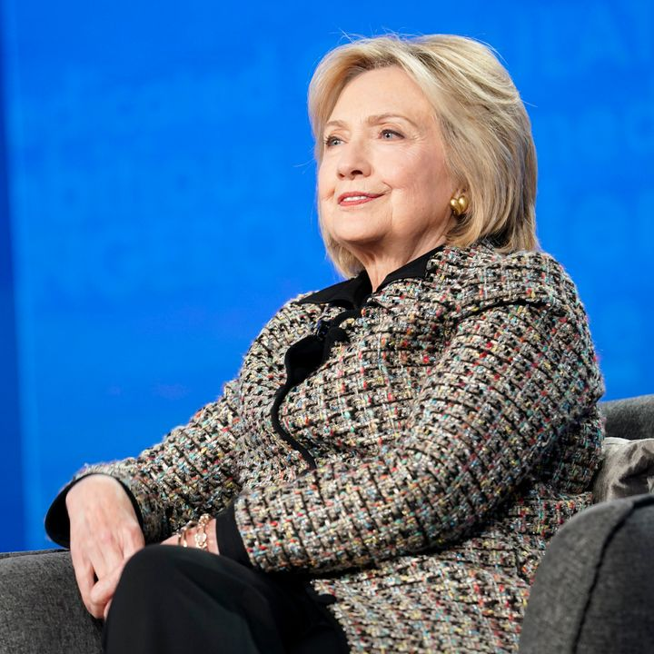 Hillary Clinton, seen on Jan. 17,is facing a defamation lawsuit from 2020 candidate Tulsi Gabbard.