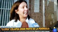 La indignación de una mujer de Murcia contra el PP en pleno temporal: