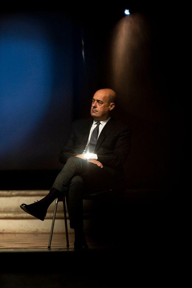 NARNI, ITALY - OCTOBER 25: General Secretary of Democratic Party (PD) Nicola Zingaretti attends the press...