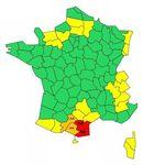 Météo France place deux départements en alerte rouge aux