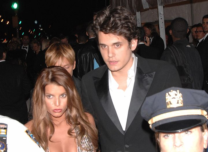 Jessica Simpson and John Mayer at the Metropolitan Museum of Art in New York City.