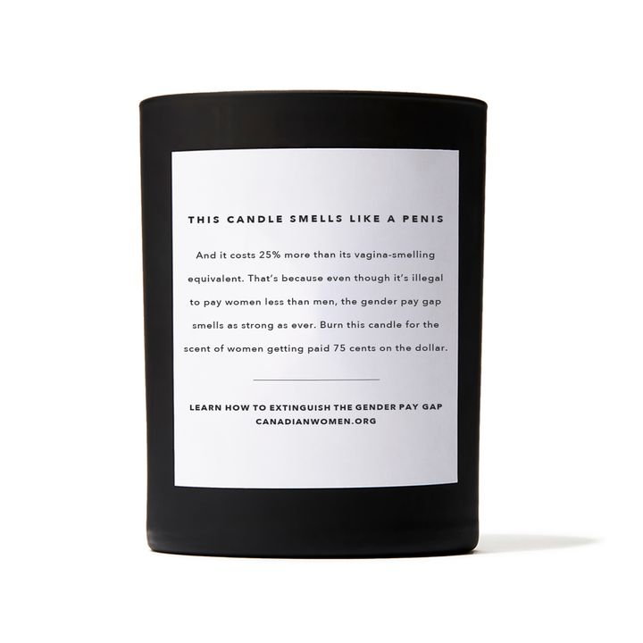"The back of the ""This Smells Like My Penis"" candle."