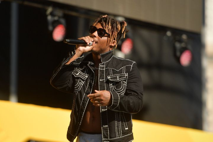 Juice WRLD performs onstage during the Daytime Stage at the 2019 iHeartRadio Music Festival held at the Las Vegas Festival Gr