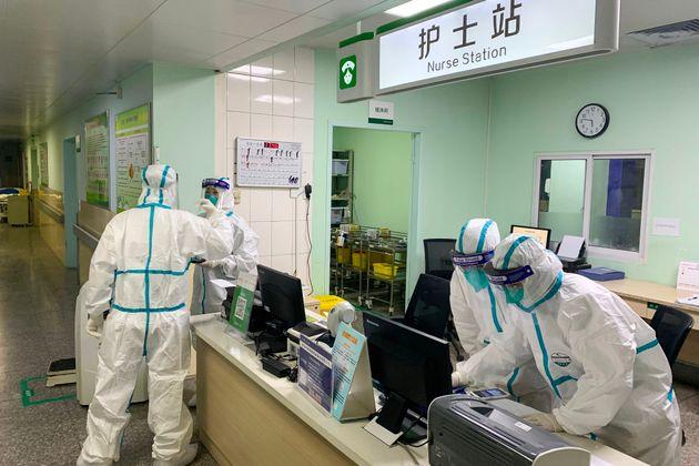 武漢市内の病院