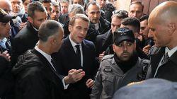Macron abronca a la policía de Israel y le ordena que salga de una iglesia francesa en