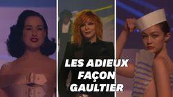 Sur le podium, les muses de Jean Paul Gaultier ont tout donné pour son enterrement de la