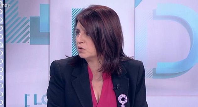 La portavoz socialista Adriana Lastra, en Los Desayunos de