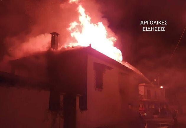 Τραγωδία στην Πυργέλα Αργολίδας: Στις φλόγες σπίτι που διέμεναν δύο αδέρφια - Βρέθηκαν δύο