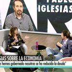 Ana Rosa deja cortado a Pablo Iglesias al dar una pista sobre su sueldo: