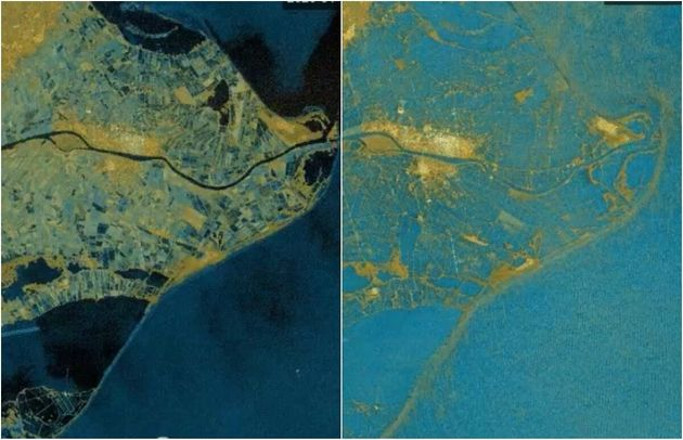 El antes y el después de la subida del agua en el Delta del