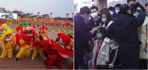 Preparativi per il capodanno cinese - controlli per impedire il diffondersi