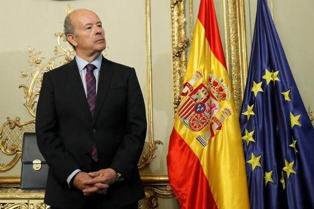 El nuevo ministro de Justicia, Juan Carlos Campo, en su toma de