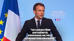 Depuis Israël, Macron comprend