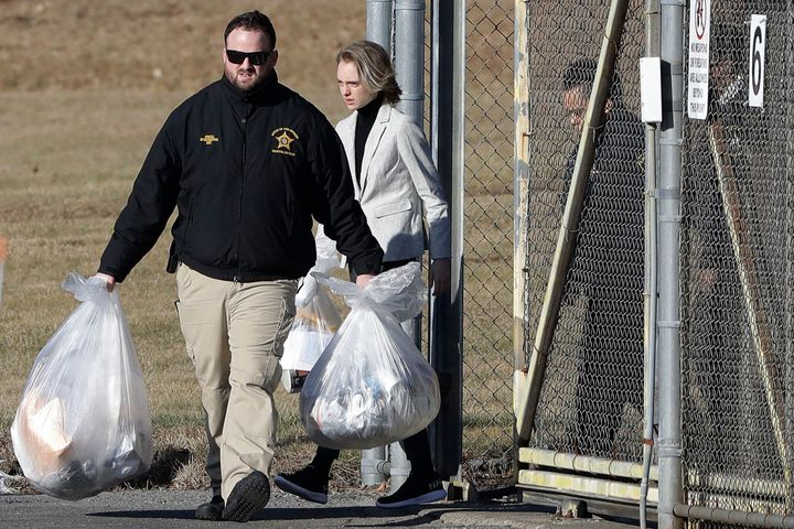 Michelle Carter leaves the Bristol County jail, Thursday, Jan. 23, 2020, in Dartmouth, Mass., after serving most of a 15-mont