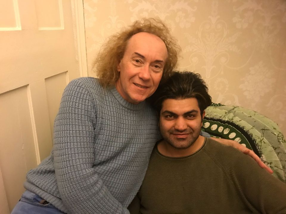 Madhi (right) with his partner Ian