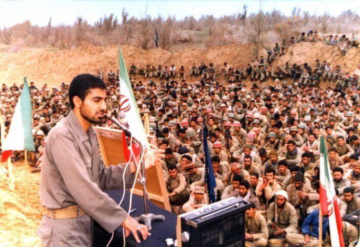 Qassem Soleimani speaks during the 1980-88 Iran-Iraq War. (Photo: AY-Collection/SIPA/Shutterstock)
