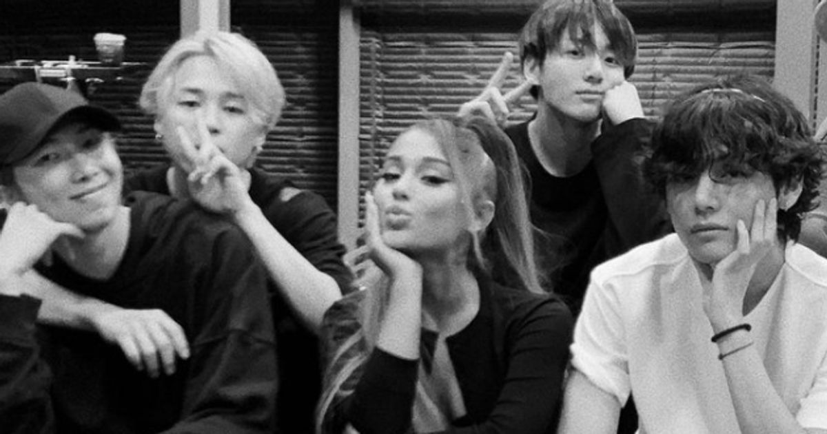 Fans Freak Out At Ariana Grande Rehearsing For The Grammys With BTS