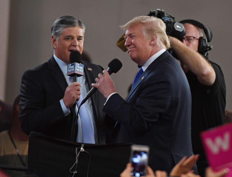 Trump, entrevistado por Fox News en 2018 en Las Vegas, Nevada