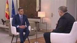La Junta Electoral multa con 500 euros a Pedro Sánchez por esta entrevista desde La Moncloa en