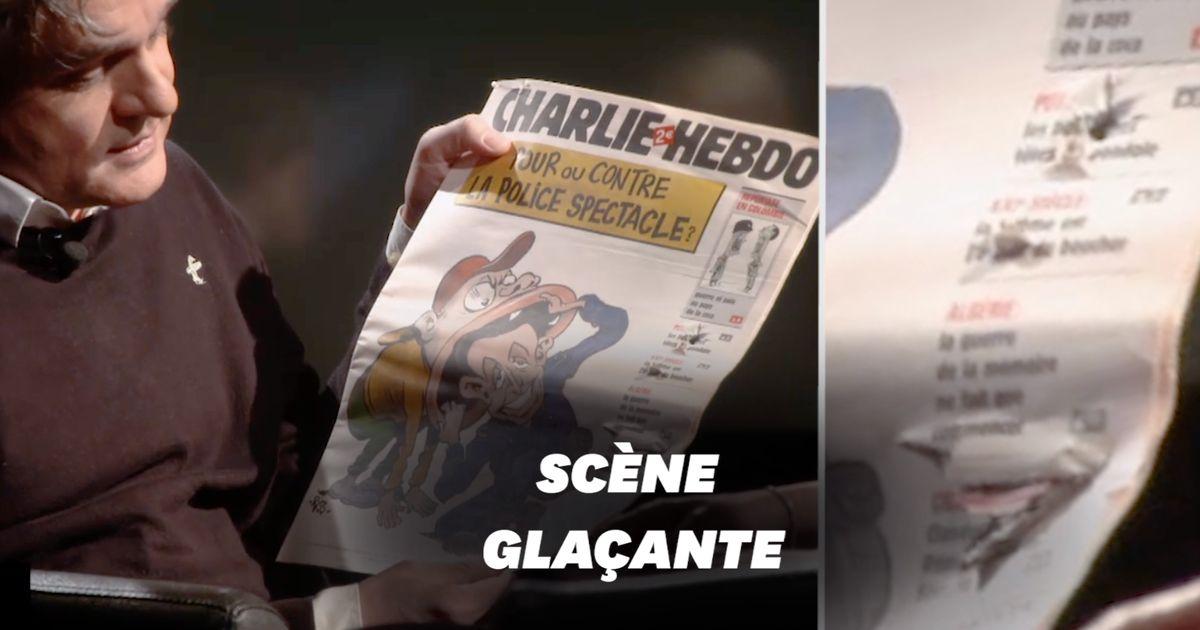 Riss de Charlie Hebdo dévoile le journal criblé par les balles du 7 janvier 2015
