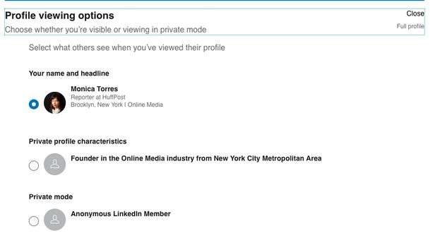 You can choose how you show up in LinkedIn members' profile