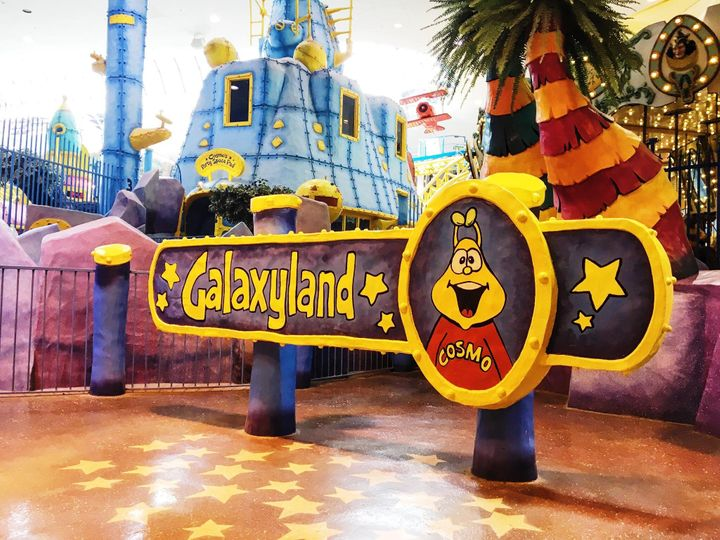 A sign at the entrance to West Edmonton Mall's Galaxyland amusement park.