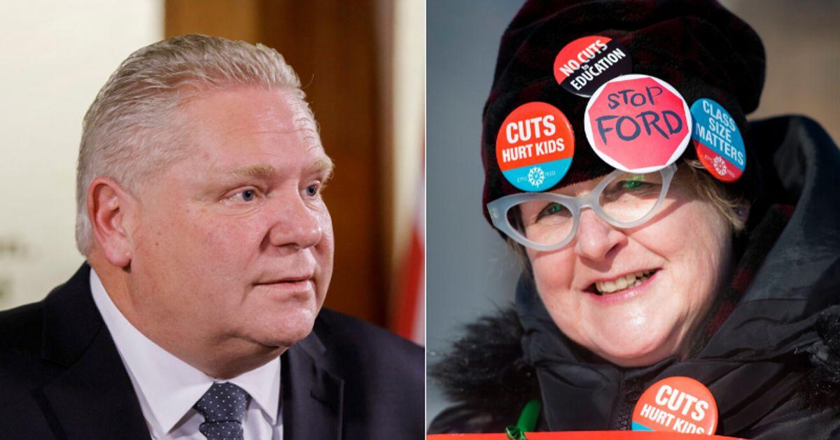 オンタリオ州の教師のストライキ:57%がフォード政府をめぐる組合に賛成