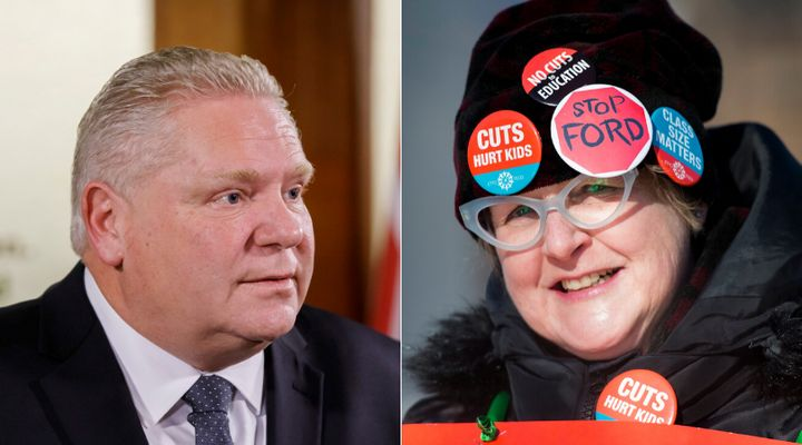There are nearly twice as many Ontarians supporting the teachers' unions than there are supporting Premier Doug Ford's government in their dispute, a new poll finds.