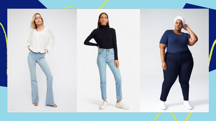 """We found&nbsp;reviewer-recommended jeans in the most popular styles and fits, ranging from <a href=""""https://www.huffpost.com/entry/mom-jeans-that-actually-fit-and-flatter-your-figure_l_5cacf3b3e4b0d6eb63c05ad3"""" target=""""_blank"""" rel=""""noopener noreferrer"""">mom jeans</a> and&nbsp;<a href=""""https://www.huffpost.com/entry/no-youre-not-having-a-flashback-flare-jeans-are-back_l_5d8280fee4b070d468c6139e"""" target=""""_blank"""" rel=""""noopener noreferrer"""">flare jeans</a>, to jeans for <a href=""""https://fave.co/36kEOec"""" target=""""_blank"""" rel=""""noopener noreferrer"""">curvy figures</a> and jeans for <a href=""""https://fave.co/38yptYZ"""" target=""""_blank"""" rel=""""noopener noreferrer"""">smaller waists and larger thighs</a>. Keep scrolling for the top-rated ones."""