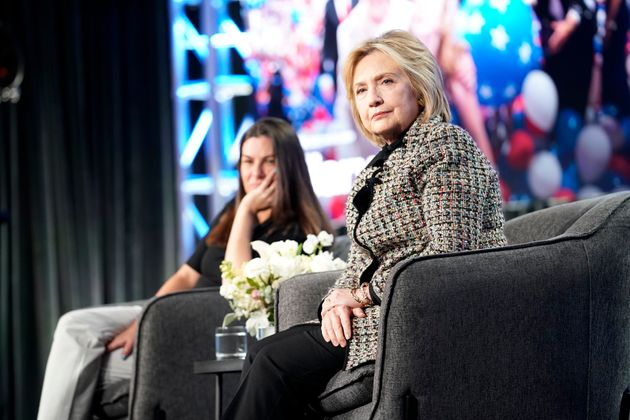 Hillary Rodham Clinton onstage during the Hulu Panel at Winter TCA on Jan. 17 in Pasadena,