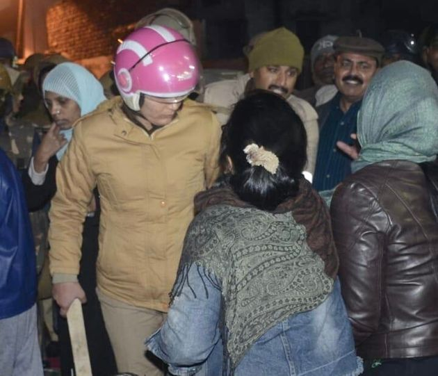 The Uttar Pradesh Police chased and struck protesting women after breaking up an anti-CAA protest in...