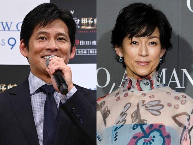 織田裕二さん(左)と鈴木保奈美さん