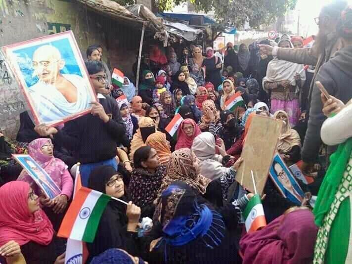 Hundreds of women led a protest against the Citizenship Amendment Act (CAA) in Etawah on 21 January, 2020.